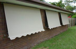 Spring Operated Locking Arm Awning Caloundra Sunshine Coast Security