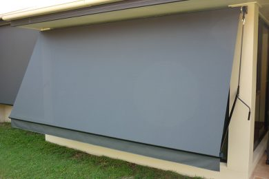 Drop Arm Fabric Awning Caloundra Sunshine Coast Security