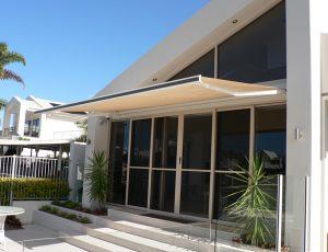 Folding Arm Fabric Awnings Caloundra Sunshine Coast Security