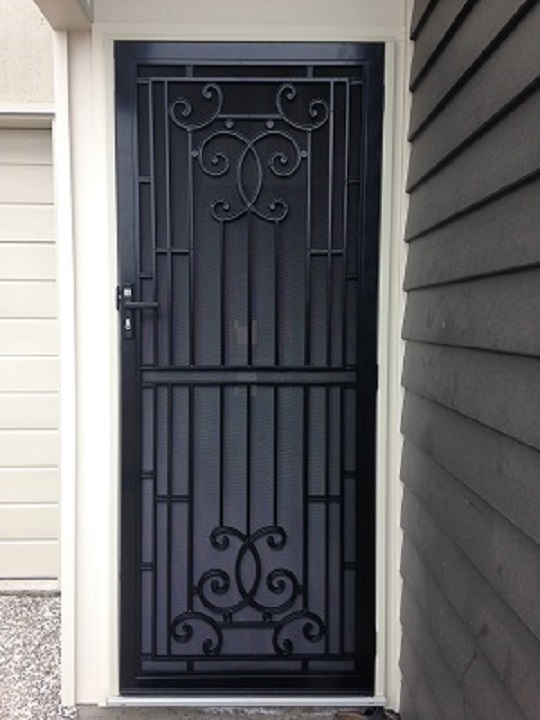 Heritage Style Door with Privacy Mesh Caloundra Sunshine Coast Security