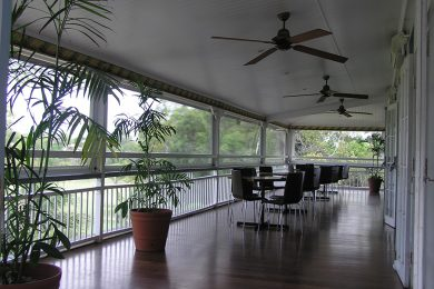 Gear Operated PVC Awnings Caloundra Sunshine Coast Security