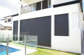 Straight Drop, Side Channel Awning – Crank Handle Caloundra Sunshine Coast Security
